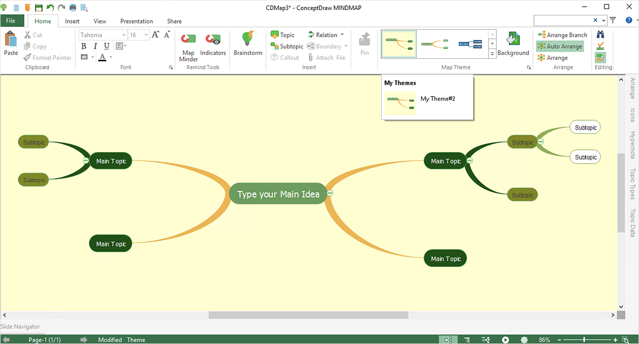 Customize the Style of Your Mind Map