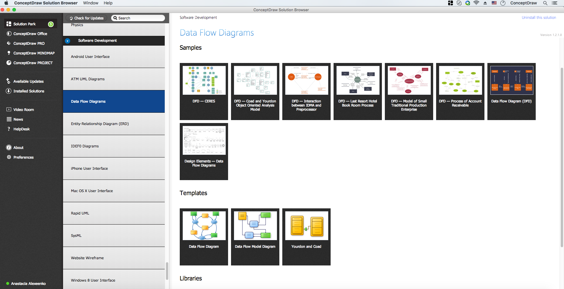 data flow diagram softwaredata flow diagrams solution in conceptdraw solution browser