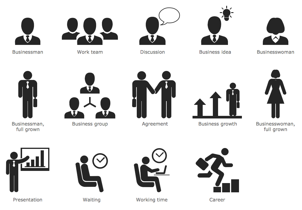 Design Infographics - Business People Pictograms