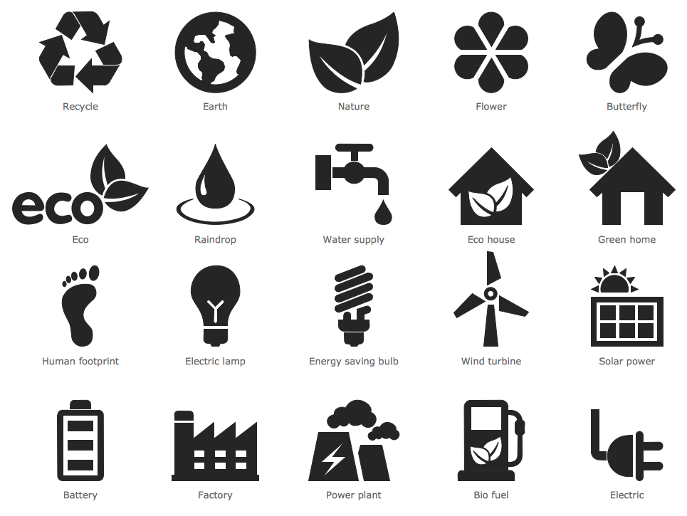 Design Infographics - Ecology Pictograms