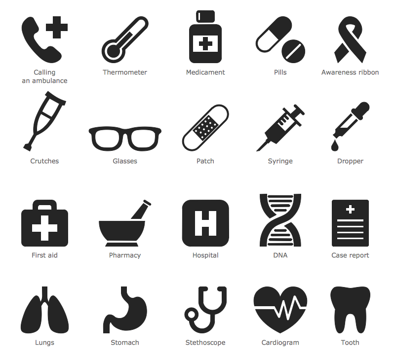 Design Infographics - Medicine and Health Pictograms