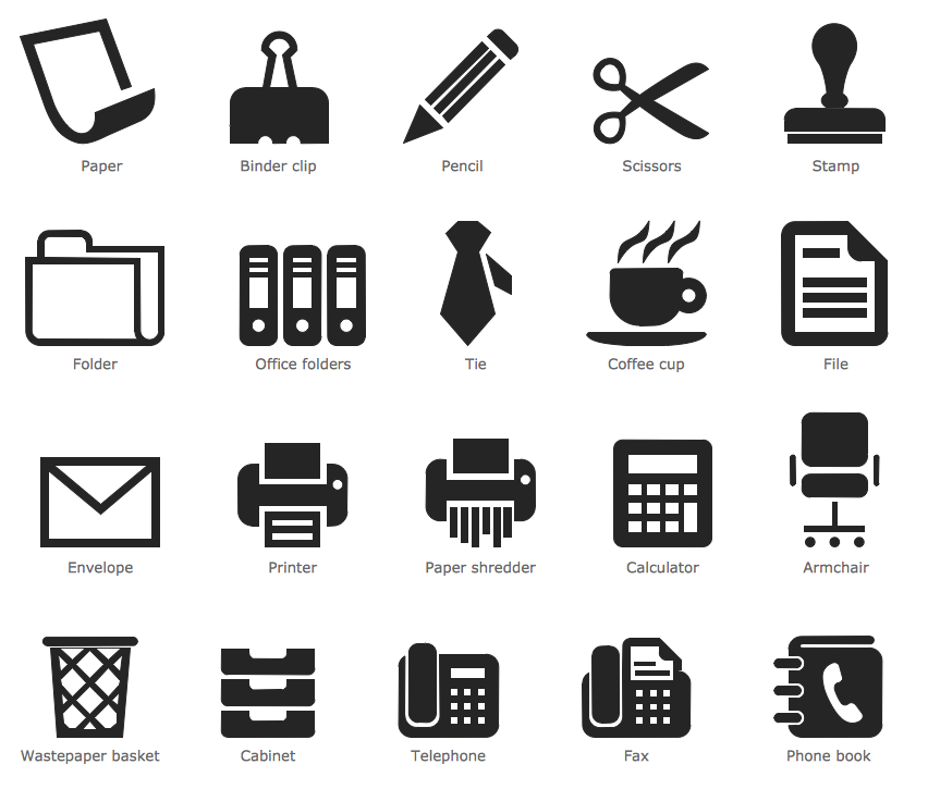Design Pictorial Infographics - Office Pictograms