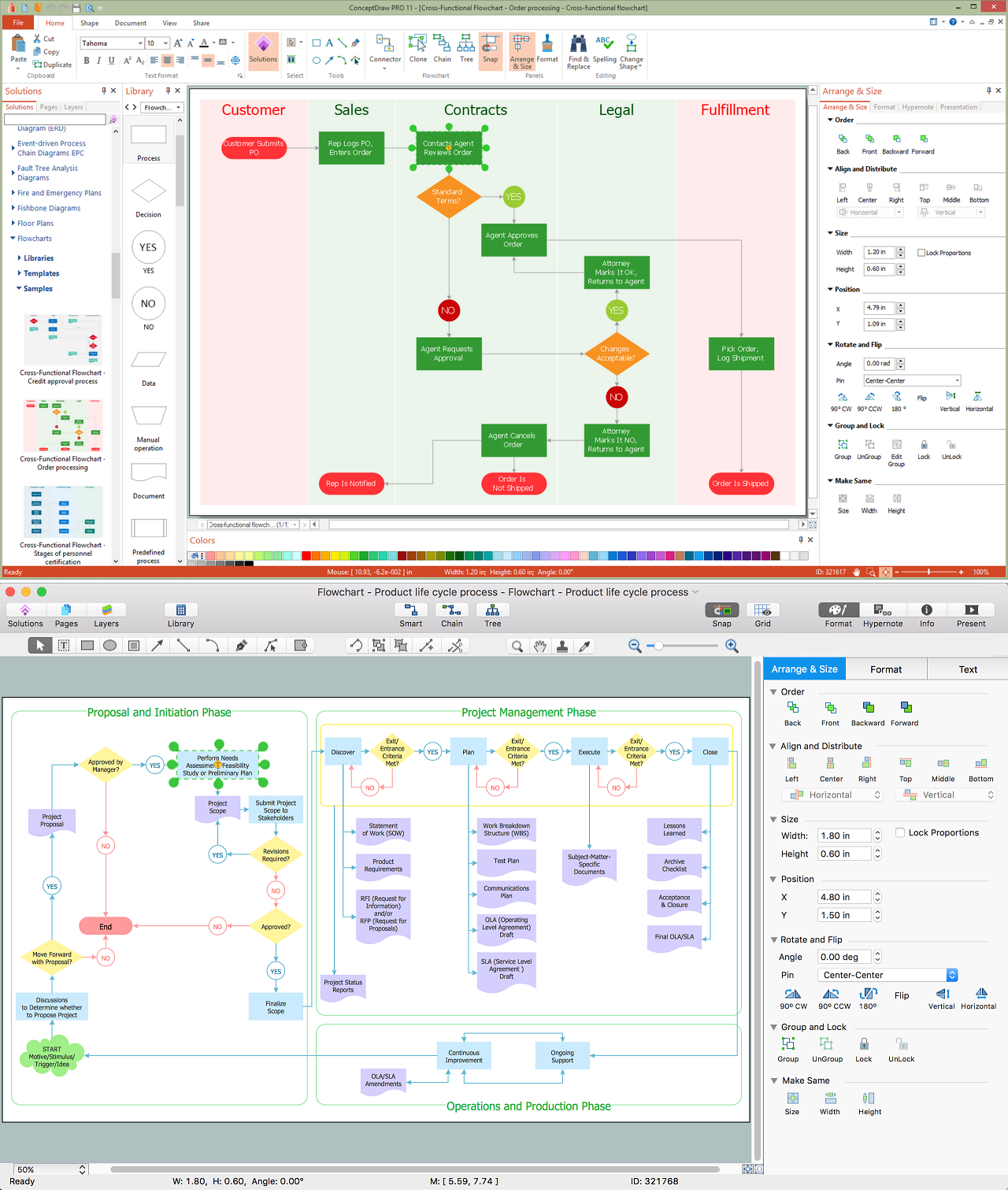 Create Process Flowcharts Business Process Modeling Tool