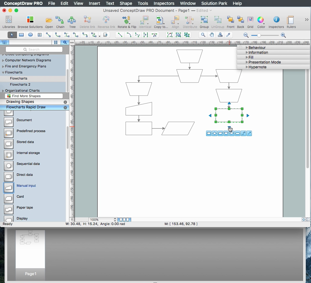 how to create a flow chart in conceptdraw free trial for