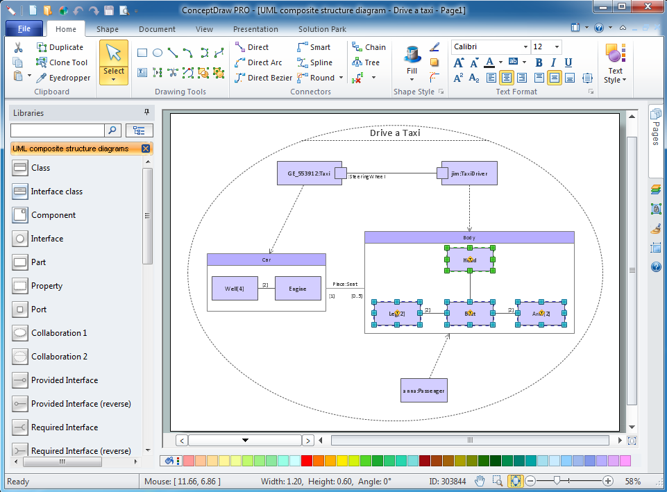 uml composite structure diagram   design of the diagrams   design    uml composite structure diagram software for windows