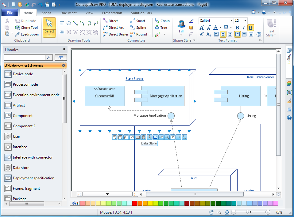 UML deployment diagram software for windows