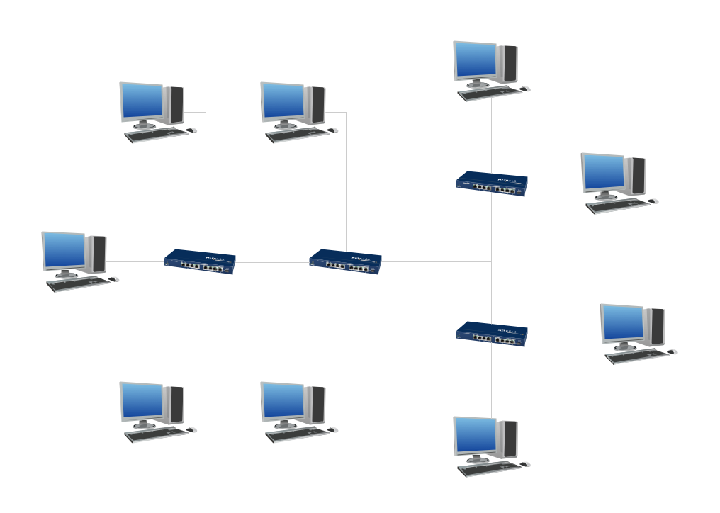 Digital Communications Network. <br>Computer and Network Examples *