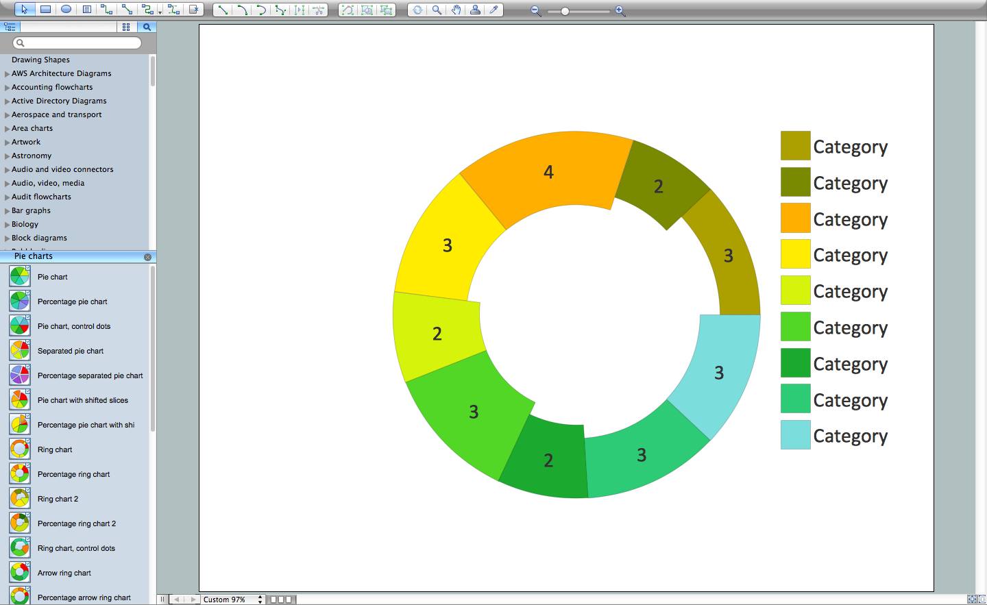 Line chart template for word donut chart templates nvjuhfo Gallery