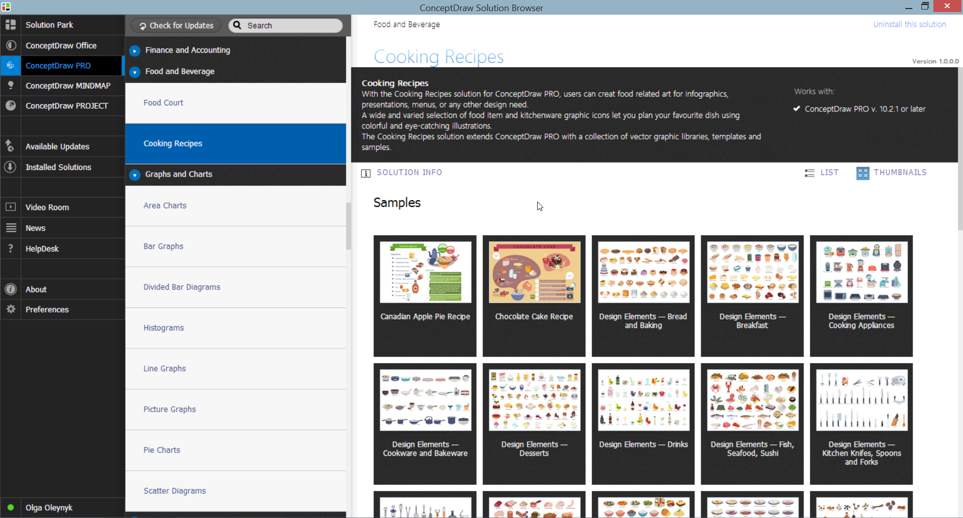 Cooking Recipes Solution in ConceptDraw STORE
