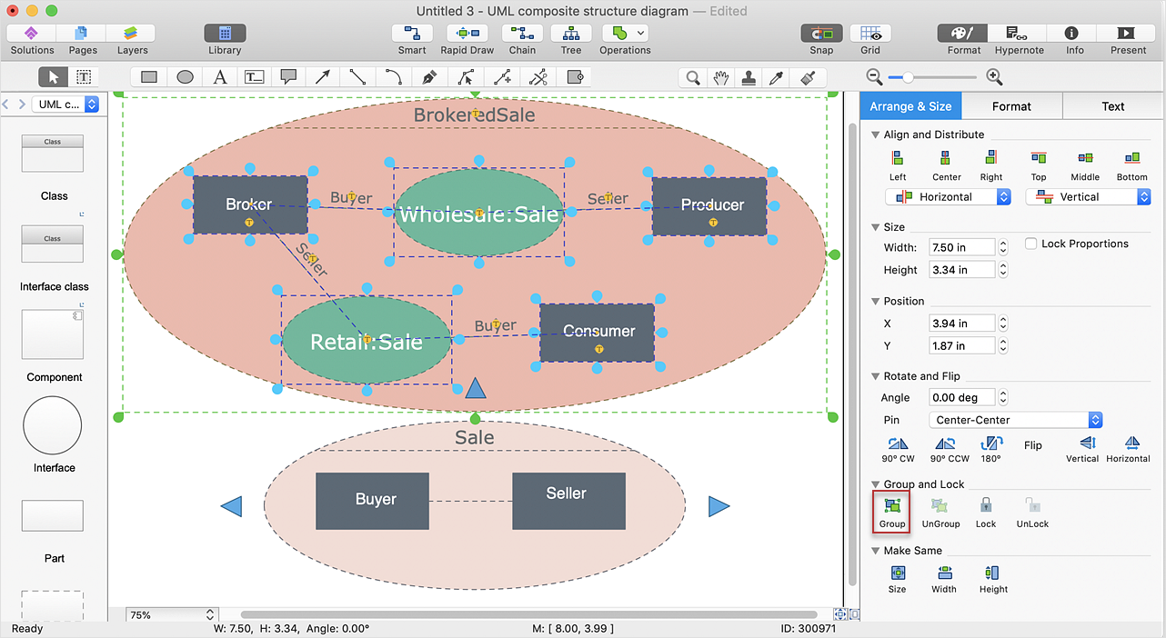 Edit Grouped  Objects in ConceptDraw DIAGRAM