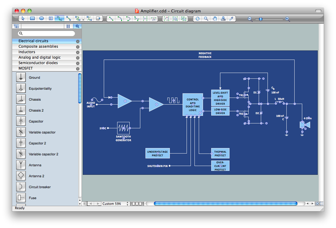 Circuit Wiring Diagram Maker Great Installation Of Program Electrical Design Software Rh Conceptdraw Com Schematic House