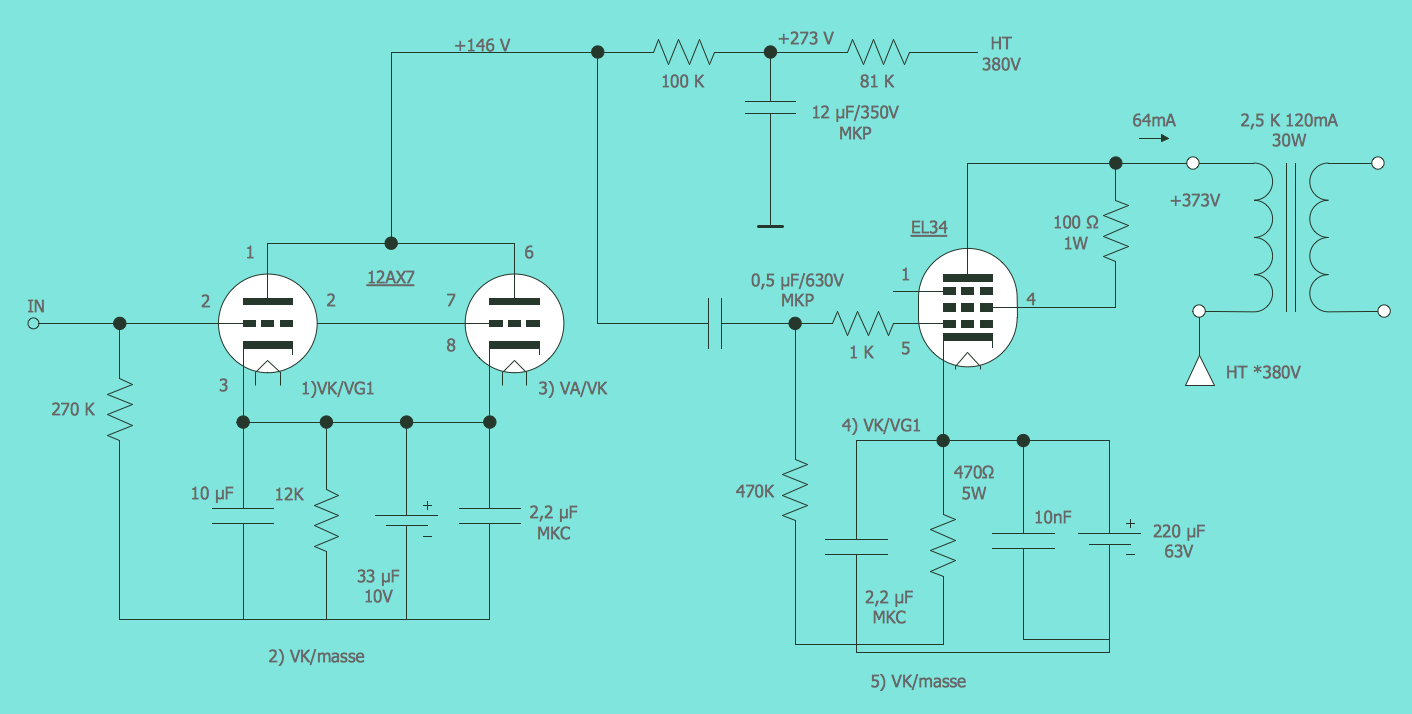 electrical drawing software circuit diagram lamp