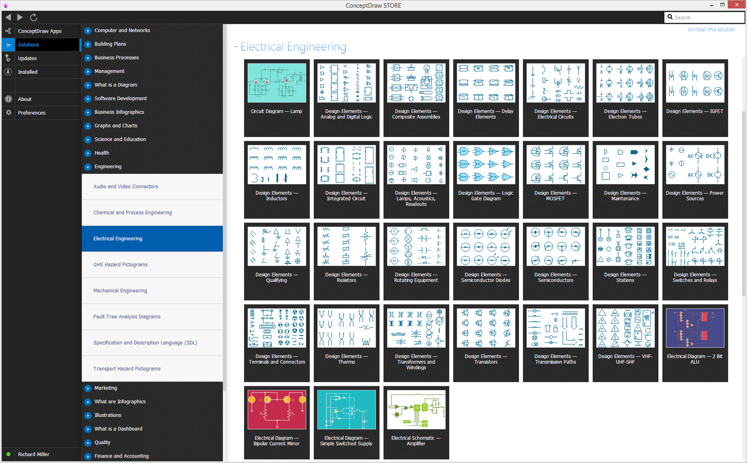 Electrical Engineering Solution in ConceptDraw STORE