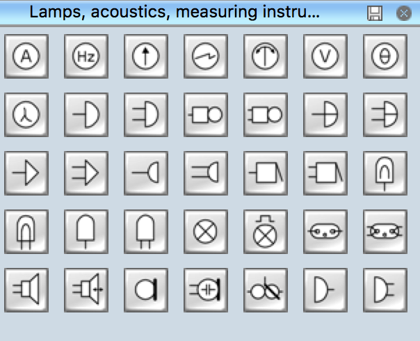 Electrical Symbols - Lamps, Acoustics, Readouts
