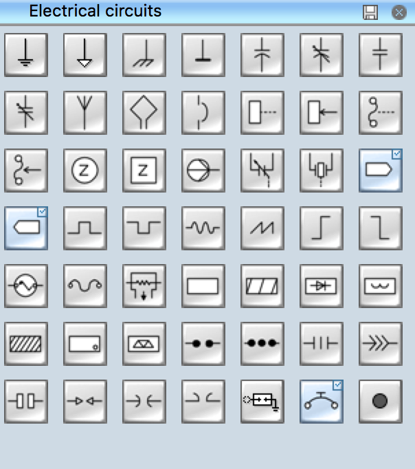 electrical symbols electrical schematic symbols rh conceptdraw com jumper wire schematic symbol connecting wire schematic symbol