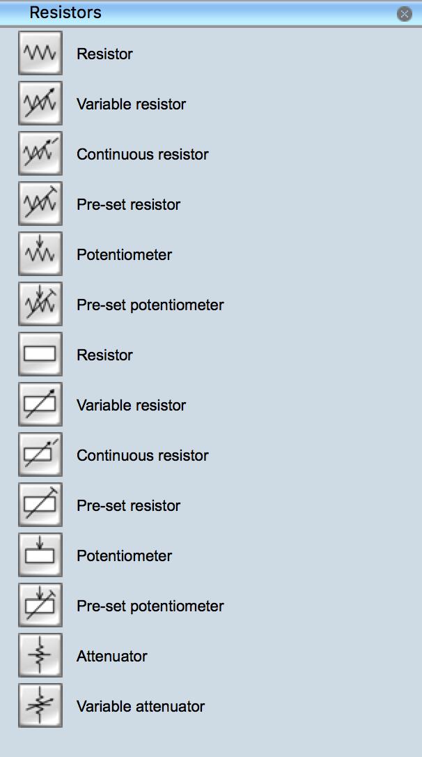 Electrical Symbols - Resistors