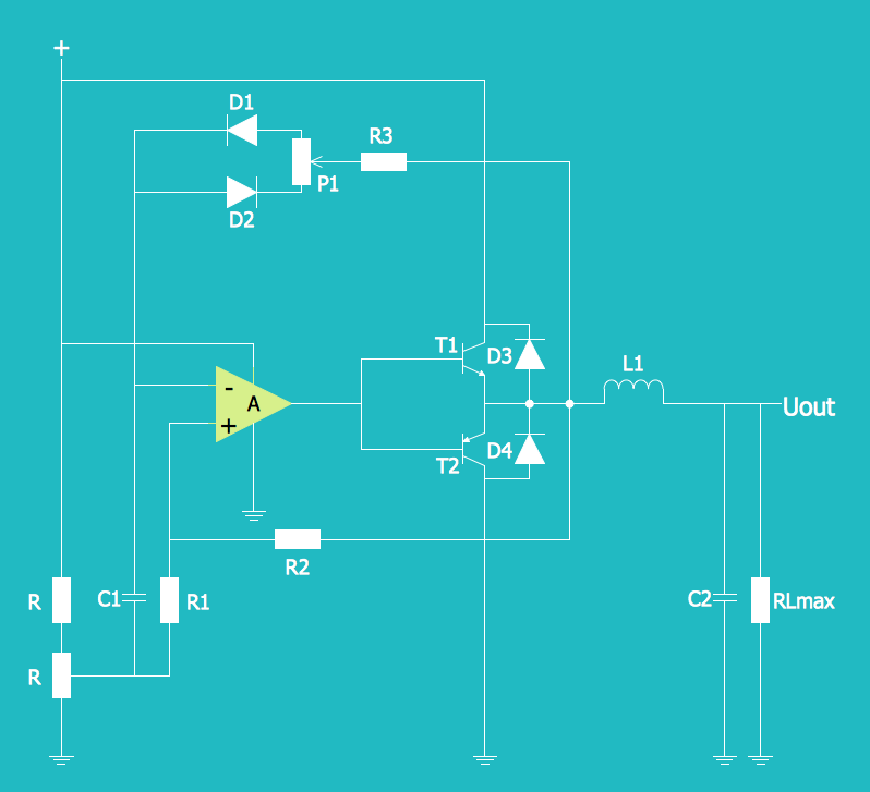 Electrical Schematic - Simple Switched Supply