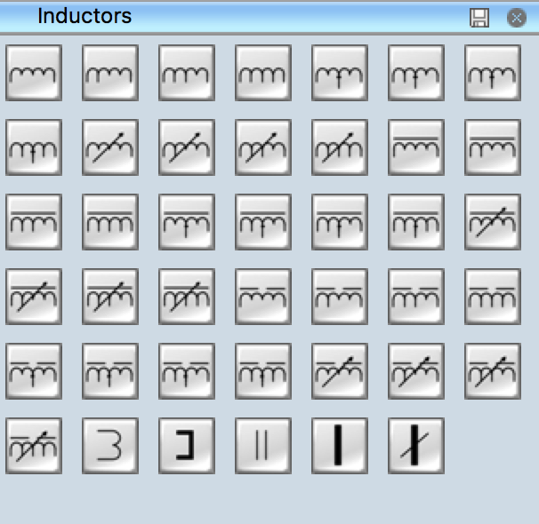 Electrical Symbols - Inductors