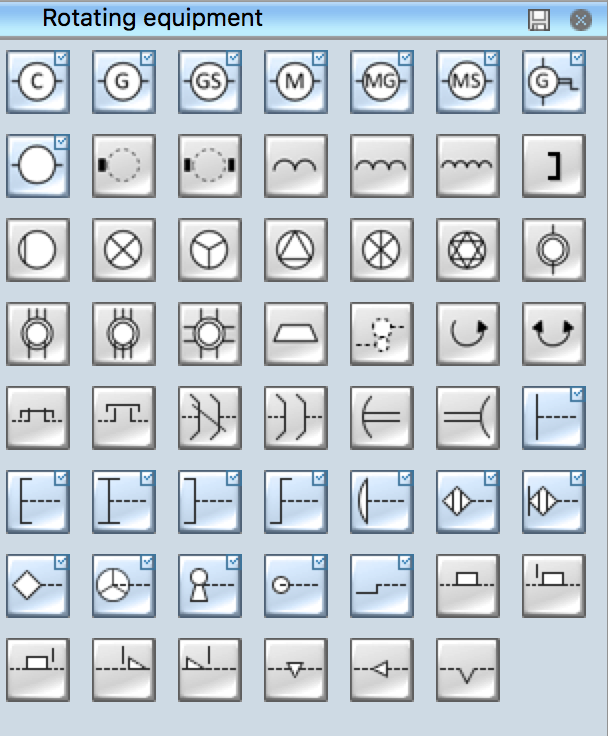electrical symbols rotating equipment rh conceptdraw com