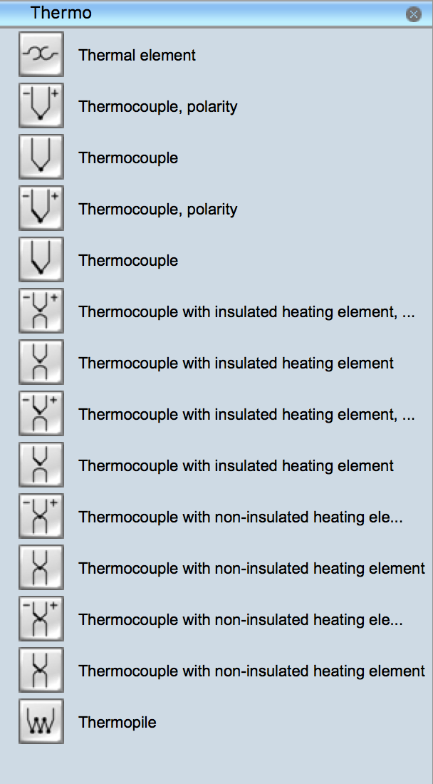 Electrical Symbols Thermo