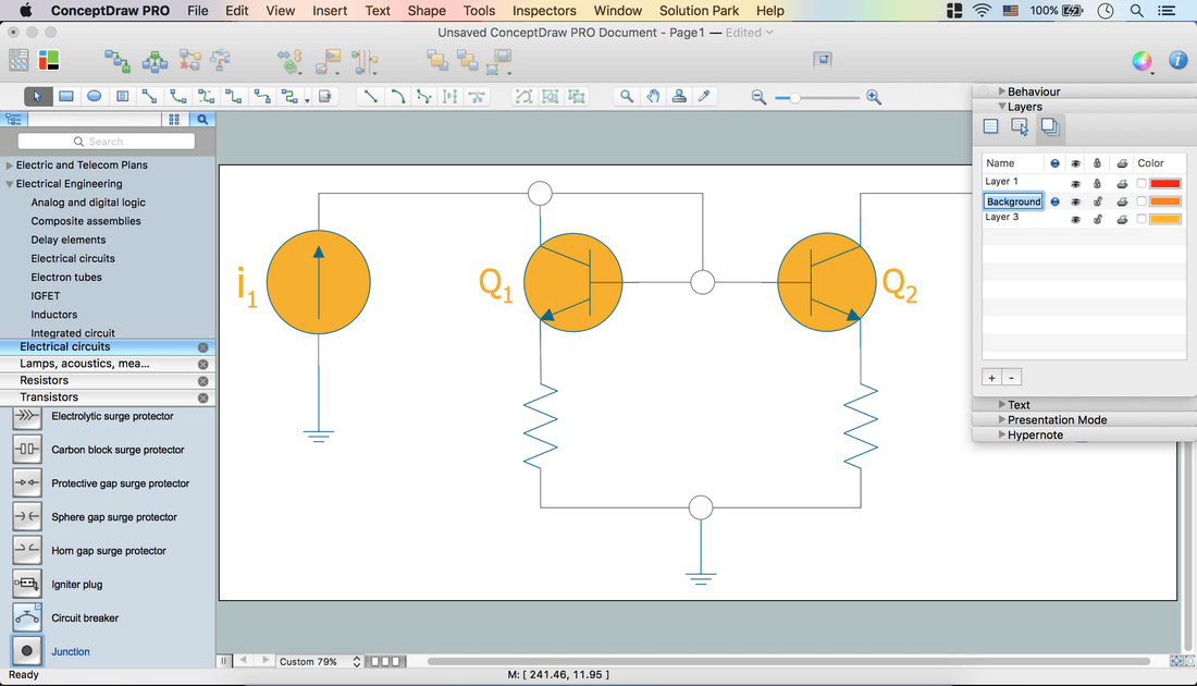 Electrical Diagram Software - Create an Electrical Diagram Easily