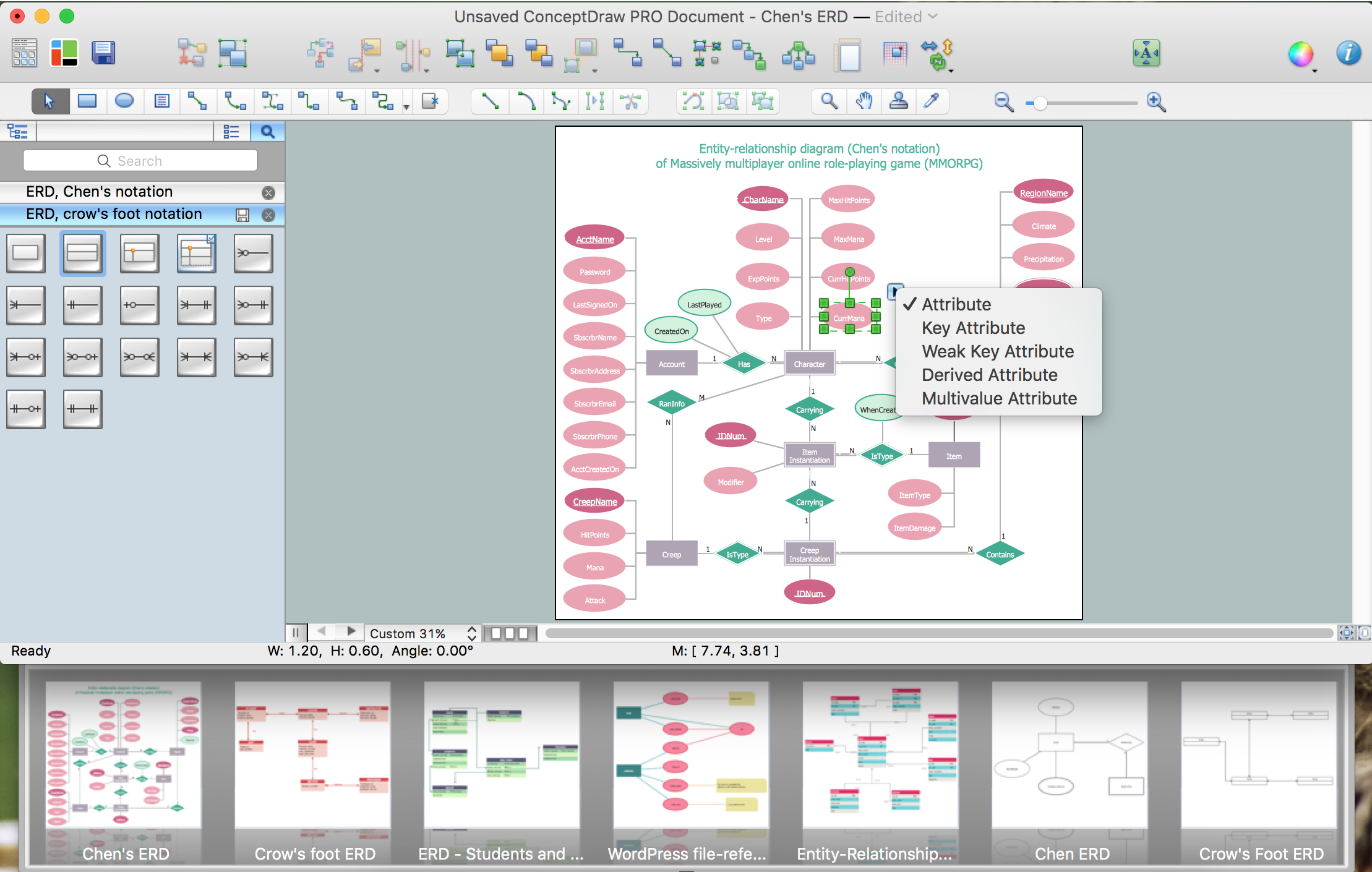 Drawing ER diagrams on a Mac | Professional ERD Drawing