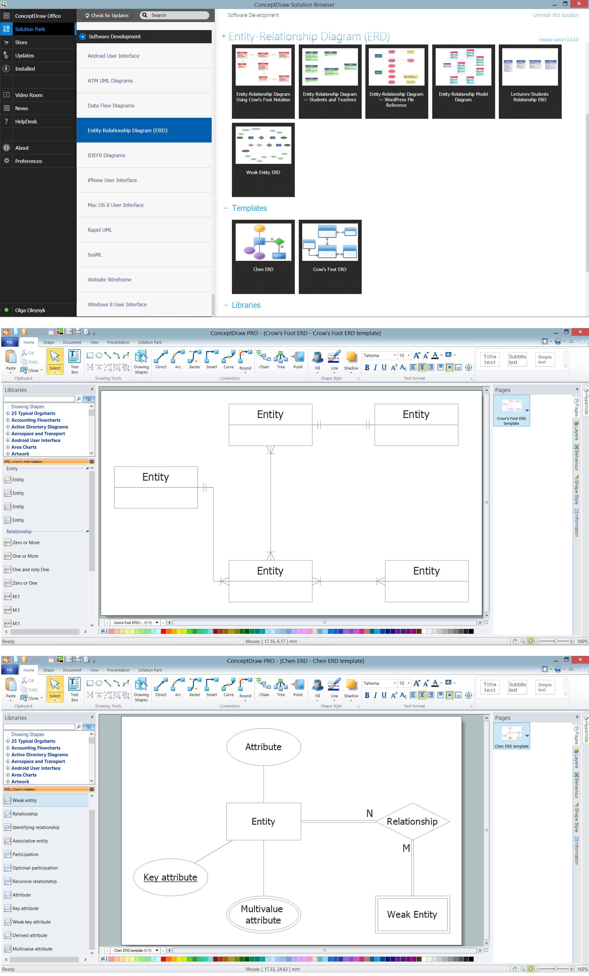 Entity Relationship Diagram Software - ERD Templates