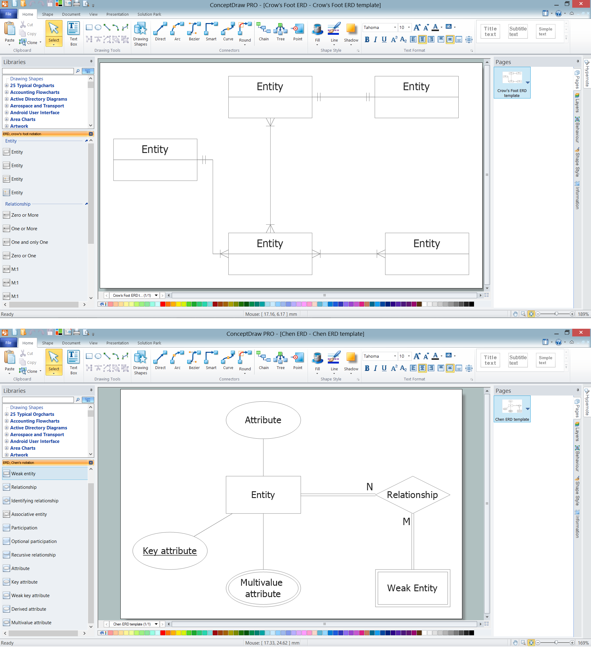 How to draw er diagrams professional erd drawing erd templates ccuart Images