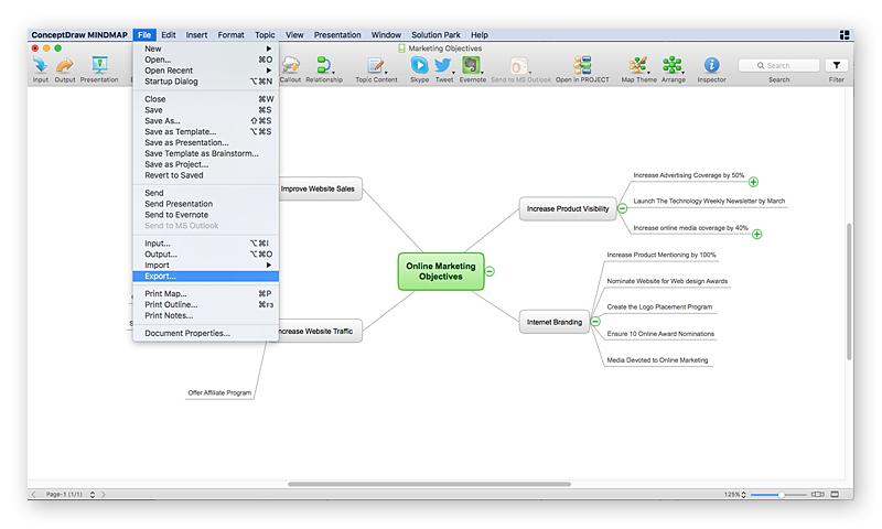 conceptdraw-mindmap-export