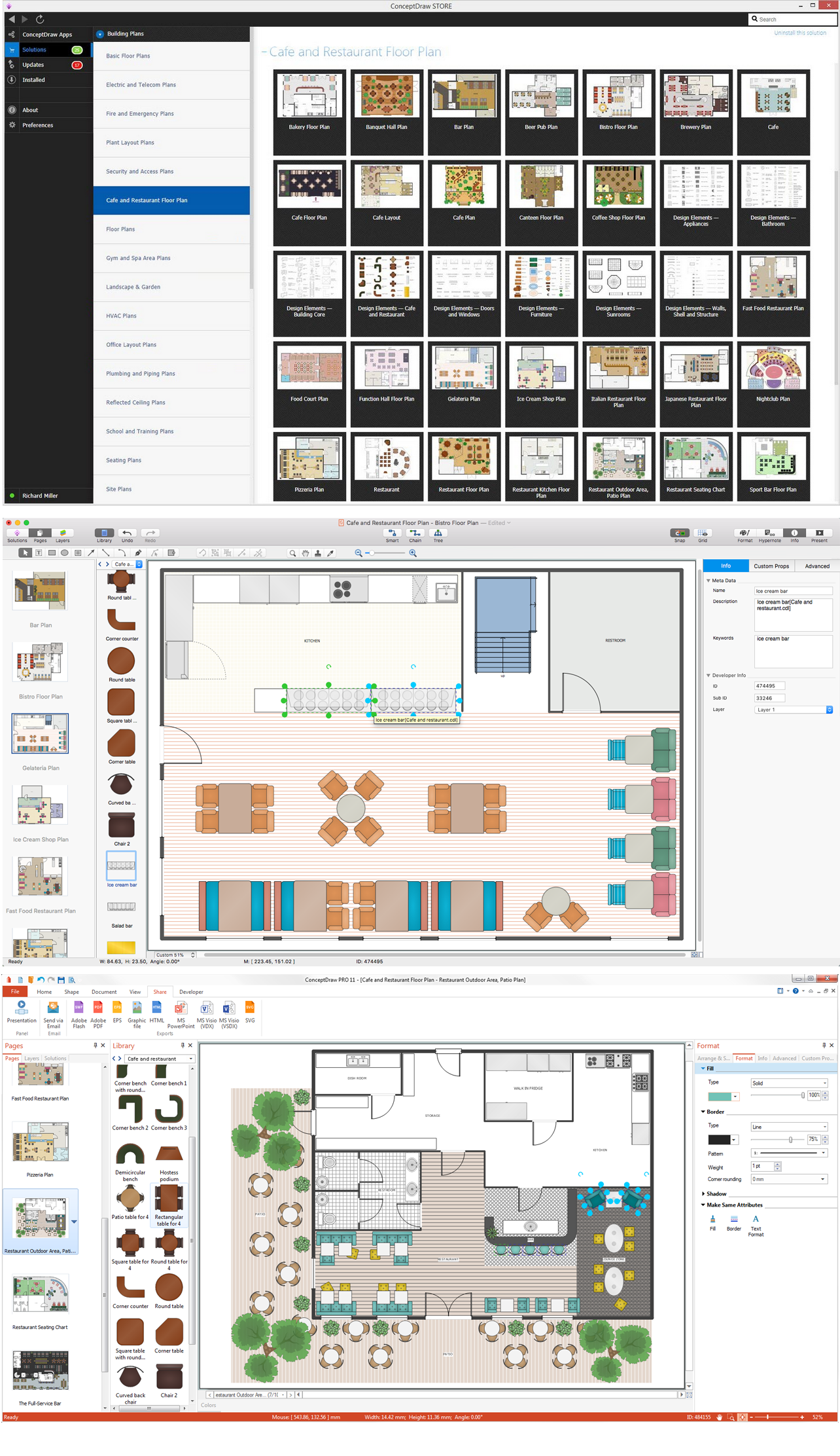 Restaurant floor plan software for Restaurant design software