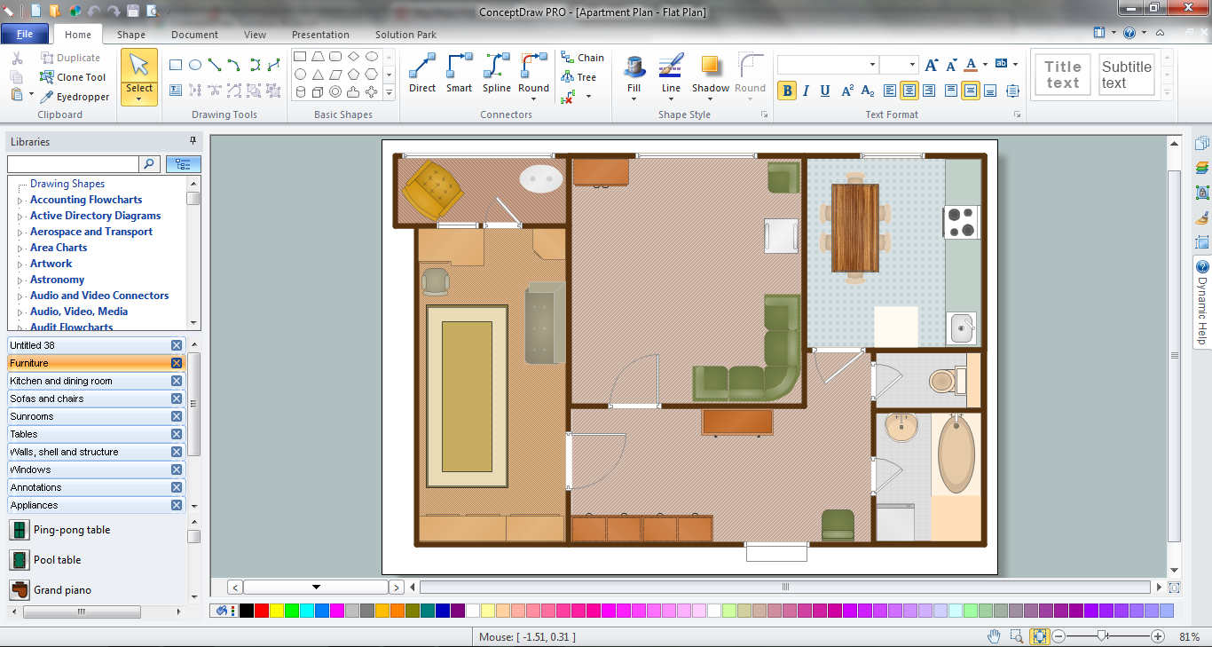 Floor plan for Building design tool