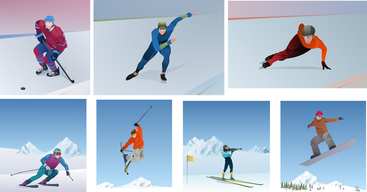 Clipart from the Winter Sports