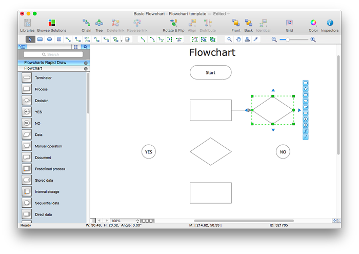 Flowchart Software Free Download Conceptdraw Helpdesk: easy flowchart software