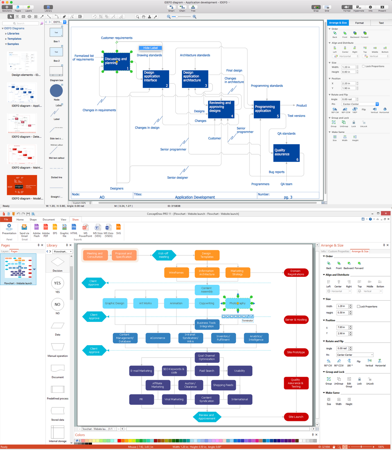 Free process flow chart software