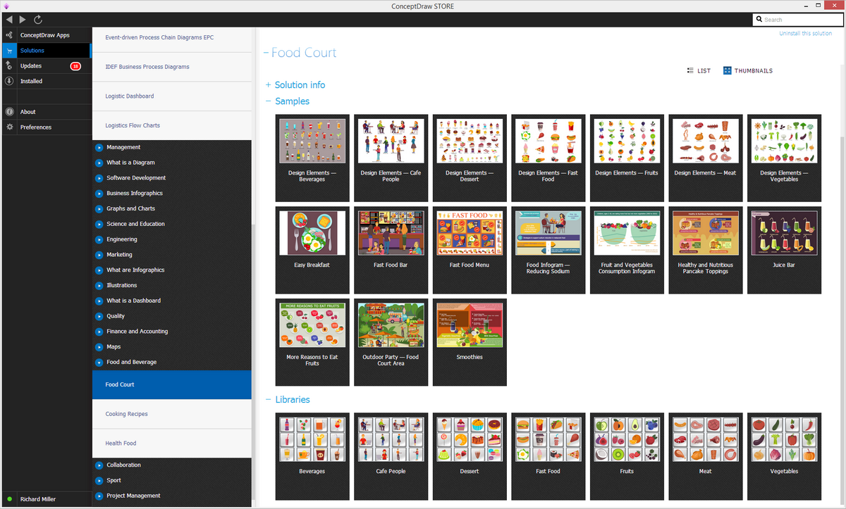 Food Court Solution in ConceptDraw STORE