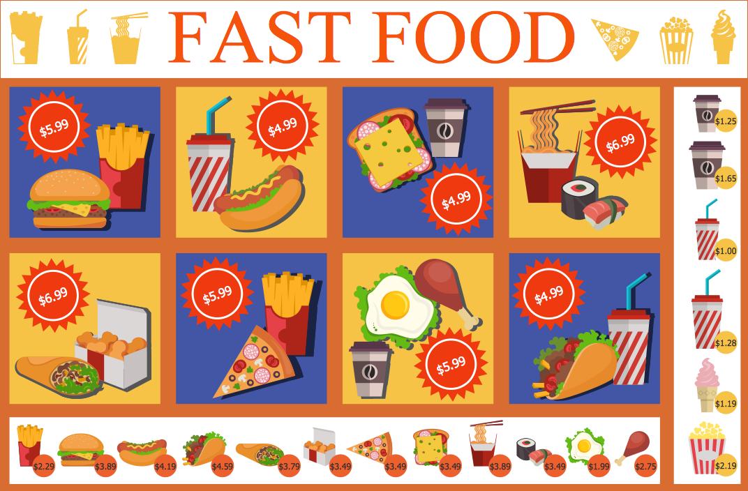Fast-Food Restaurant Menu