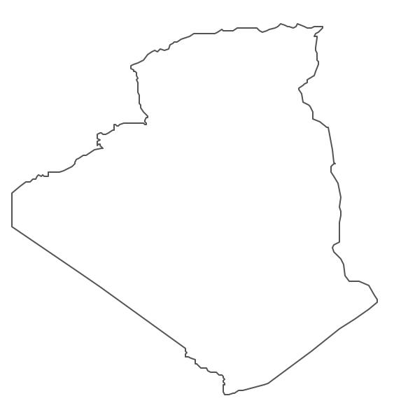 Geo Map Africa Algeria - Algeria map