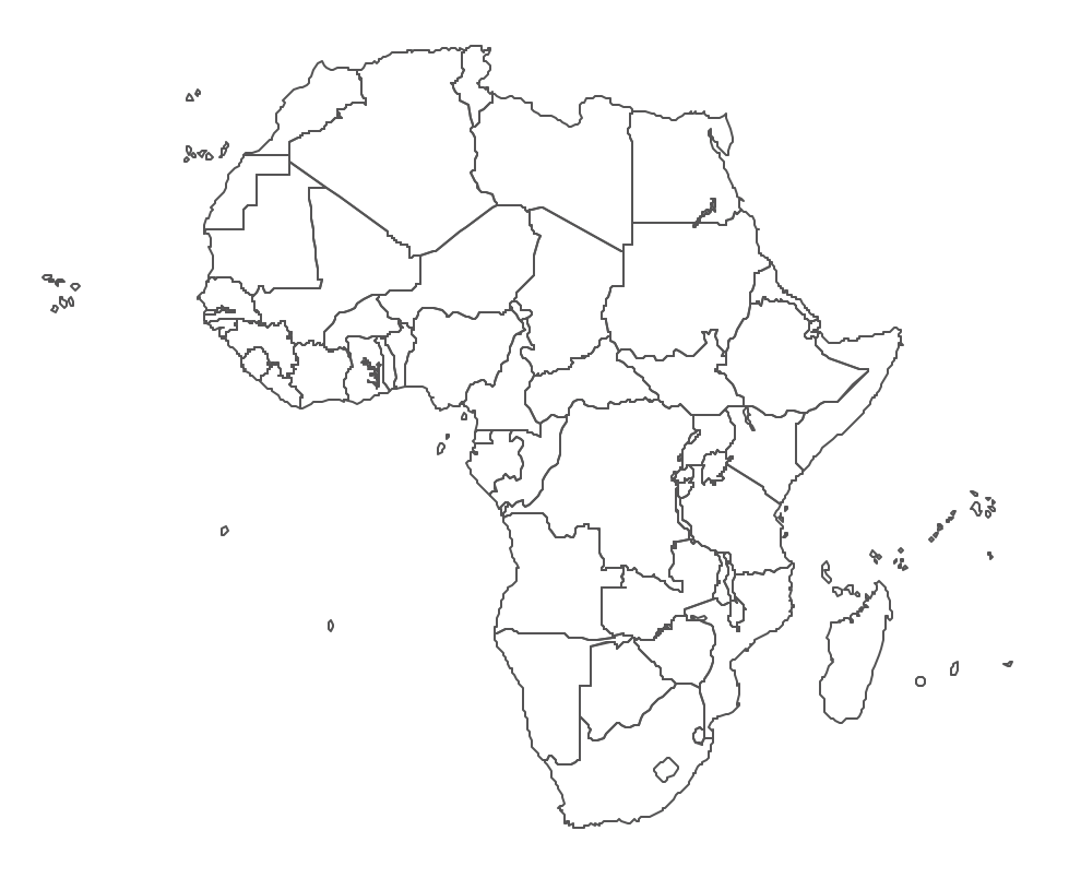 west africa map vector