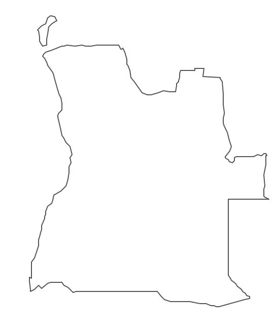 Geo Map - Africa - Angola Contour