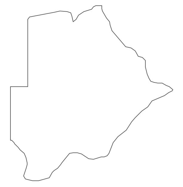 Geo Map - Africa - Botswana Contour