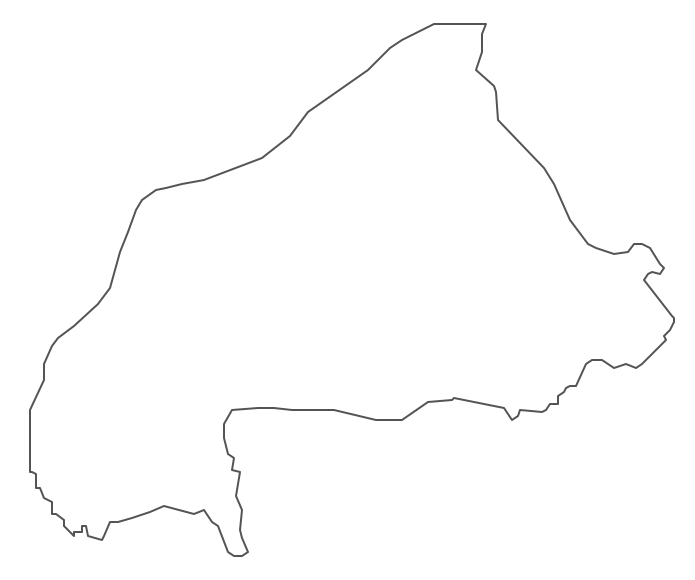Geo Map - Africa - Burkina Faso Contour