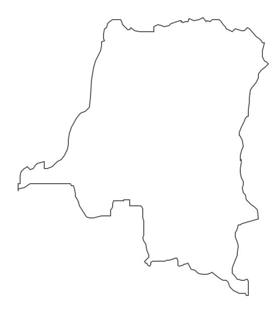 Geo Map - Africa - Congo DRC Contour