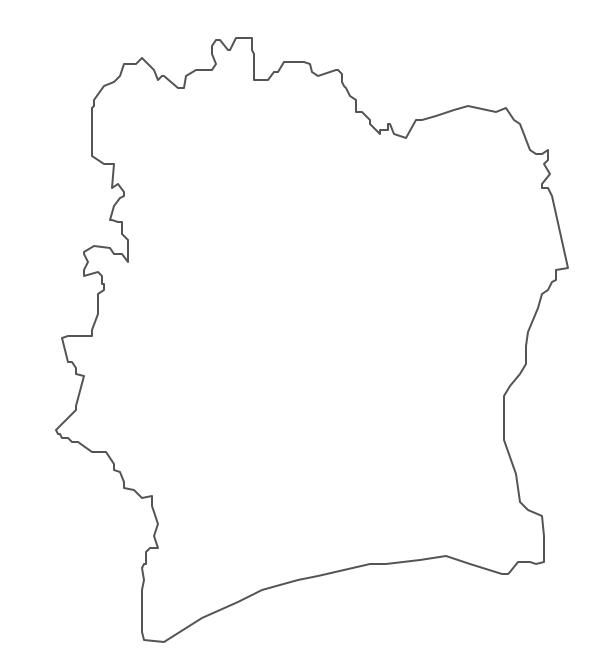Geo Map - Africa - Cote d'Ivoire Contour