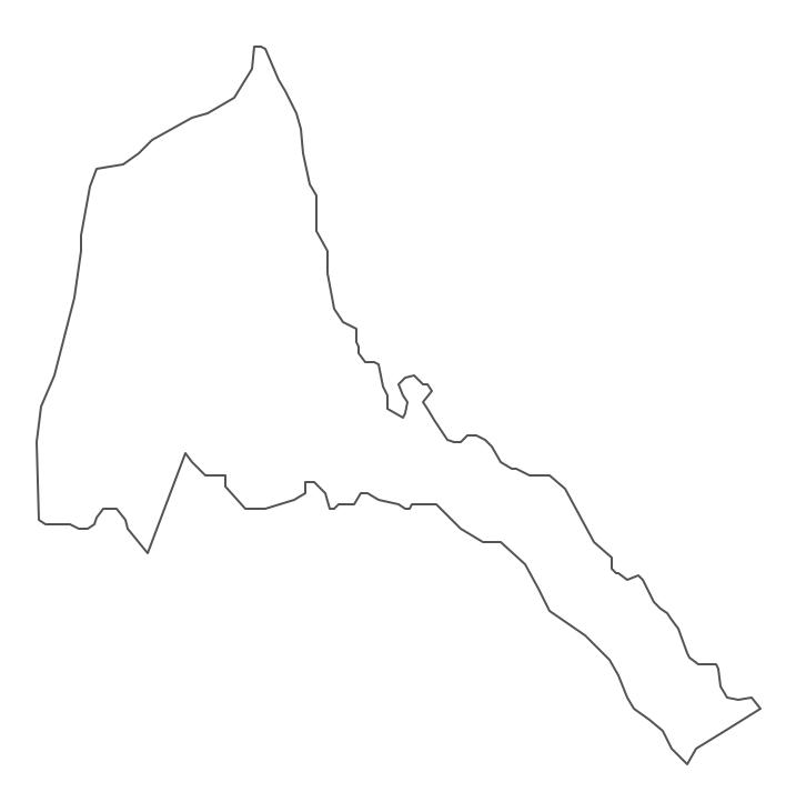 Geo Map - Africa - Eritrea Contour