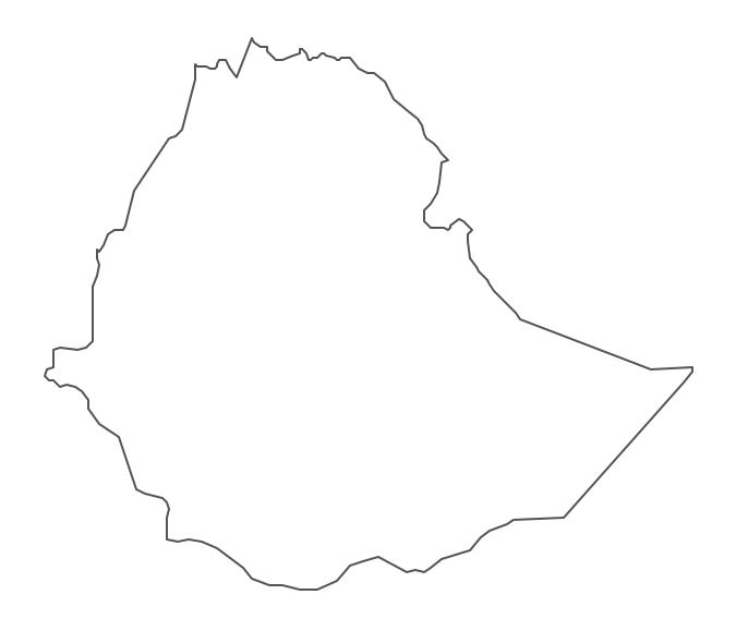 Geo Map - Africa - Ethiopia Contour