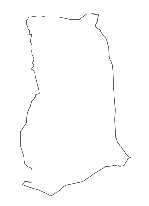 Geo Map - Africa - Ghana Contour