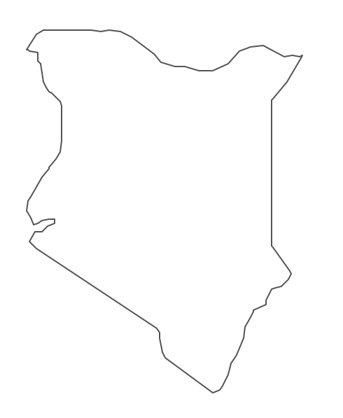 Geo Map - Africa - Kenya Contour