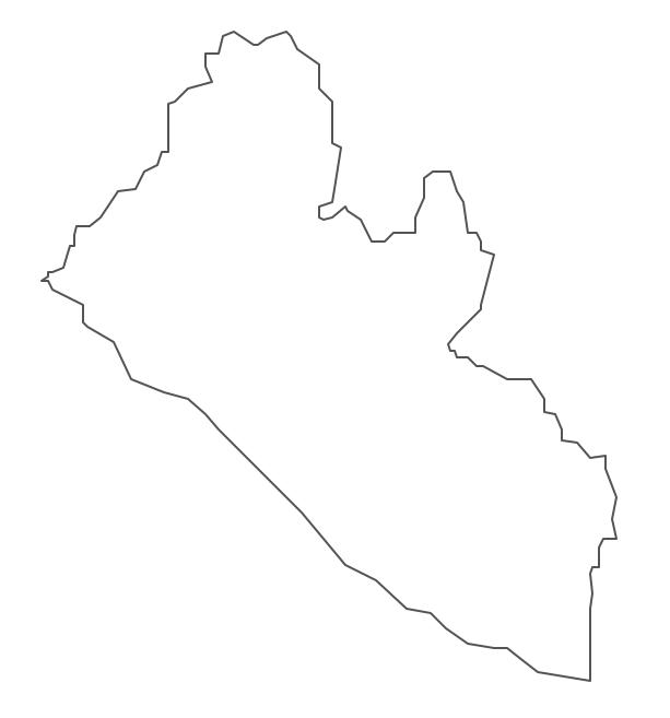 Geo Map - Africa - Liberia Contour