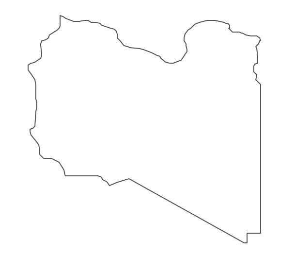 Geo Map - Africa - Libya Contour