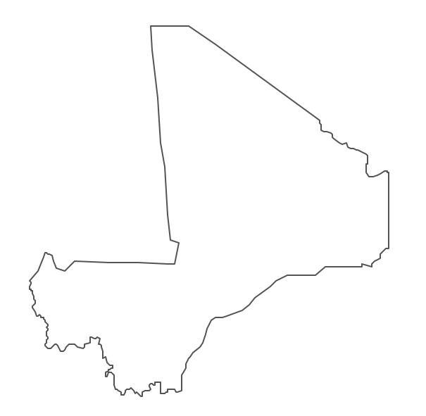 Geo Map - Africa - Mali Contour